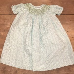 Shrimp and Grits smocked dress 2t